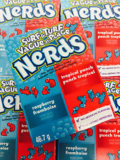 Wonka Nerds Surf and Turf Raspberry and Tropical Punch Candy 24 Packs SHIPS FREE
