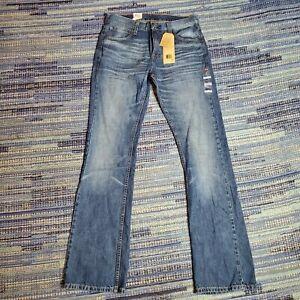 Levis 527 Mens Sz 32x34 Slim Fit Boot Cut Jeans Levis Bootcut Jeans Blue