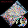 1000pcs 3D Fruit Animals Fimo Slice Clay DIY Nail Art Tips Sticker Decoration