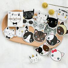 45 pcs cute Cat Head mini paper sticker decoration DIY diary label sticker Lot