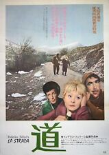 LA STRADA Japanese B2 movie poster R1974 FEDERICO FELLINI ANTHONY QUINN MASINA