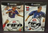 Fifa Soccer 2002 + 2003  -  Nintendo GameCube Tested Working Game Lot
