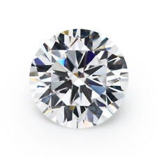 Unheated 8mm AAAAA White Sapphire Round Shape Faceted Cut 3.09ct VVS Loose Gems