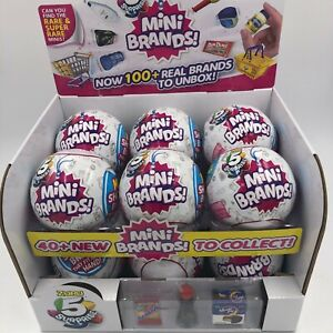 Lot Mini Brands 5 SURPRISE Full Case 12 White Sealed Balls Zuru Display Series 1