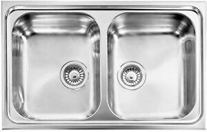 Abey ZENITH ZE2 Double Bowl Stainless Steel Kitchen Sink
