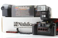 【 New in Box 】 Nishika N8000 35mm 3D Stereo Film Camera w/ Flash,Case from JAPAN