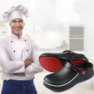 Men Women Non-slip Kitchen Chef Shoes Safety Oil Water Proof Slippers Sandals