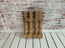 Solid Hardwood Turned Oak Style Refectory Style Bench Coffee Table Legs