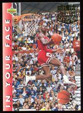 1992-93 Upper Deck Michael Jordan # 453 In Your Face Slam Dunk Champion Error