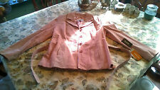 Women's Wilson Maxima Pink Leather Jacket Size Large L Suede