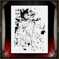 """Grunge 4"" Airbrush Stencil Template Airsick"
