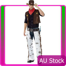 Mens Western Wild West Fringe Cowboy Costume Texas Rodeo Sheriff Fancy Dress