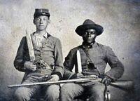 Confederate Soldiers Slave POSTER 8X10 PHOTO Negro Civil War Mississippi LINCOLN