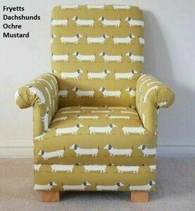 Kids Mustard Chair Armchair Fryetts Hound Dogs Fabric Puppy Childrens Yellow Pup
