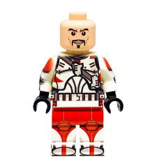 Custom LEGO Star Wars Minifigure Clone Commander Ganch (Without Helmet)