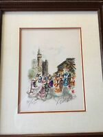 """Urbain Huchet L/Edition Lithograph """"Parisian Afternoon"""", Signed & Numbered w/COA"""