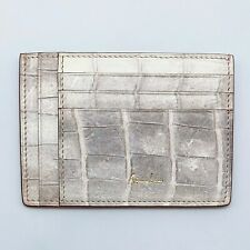 Handmade Himalayan Genuine crocodile skin credit card holder/wallet/ID Badge