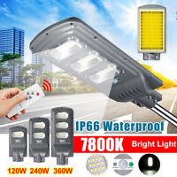 120W/240W 360W 351 LED Lampione Stradale Faro Pannello Solare Telecomando Fredda