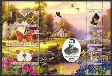 Chad 2010 Butterflies & Mushrooms I Birds Flowers Sheet of 6 MNH** Privat !