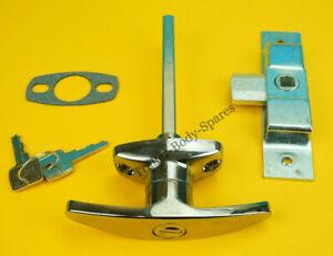 Chrome T Handle & 2 Keys with heavy duty universal lock horse box, trailers