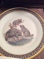 Vintage Lenox Boehm WoodLand Wildlife Raccoons 1973 Collector Plate