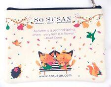 SO SUSAN Collectible Albert Camus Autumn Quote Makeup Bag - Lip Love Sub Box Cat
