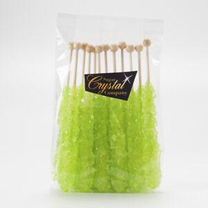 12 pcs Light Green Watermelon Rock Candy | The Sugar Crystal Company| 15 Colours