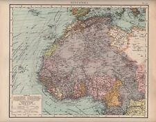 Landkarte map 1905: WEST-AFRIKA. Sudan