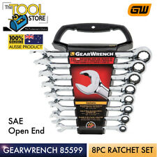GEARWRENCH 8 PIECE RATCHETING OPEN END SPANNER SET SAE