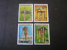PAPUA NEW GUINEA, SCOTT # 616-619(4),1985 COMPLETE RITUAL STRUCTURES  ISSUE MNH