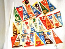 Late 70's Early 80's Complete Set of NFL Team Mini Pennants 8 x 4