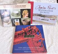 Lot of 3 Art Related Books: Watercolor Secrets/Painter's Problem Book/Framing