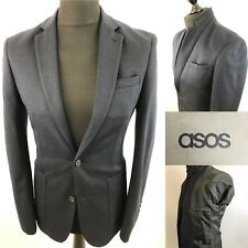 "ASOS Stunning Mens Blazer NEW Navy Blue UK 36"" EU 46 Slim Fit Sport Jacket Dots"
