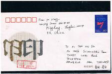 CHINA 2001 World Print Congress Pre-Stampeed Envelope to Thailand
