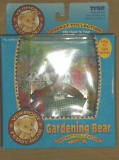 "1995 TYCO VERMONT TEDDY BEAR POCKET COLLECTION ""GARDENING BEAR"" NEW!"
