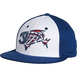 G Loomis USA Flat Bill Stretch Fit Fishing Hat / Cap - USA Patriot Color - NEW!