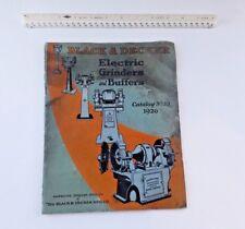 Vintage/antique 1926 Black Decker Power Tool Catalog ad book tool grinder buffer