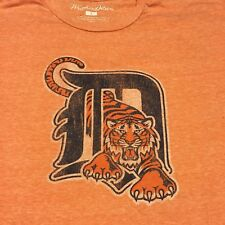 Detroit Tigers Orange Large T-shirt Faded Baseball Michigan American League