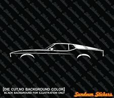 2X Car silhouette stickers - for Ford Mustang 1971-1973 Fastback classic muscle