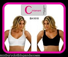 95% Cotton comfort ladies front fastening nonwired bra  b,c,d,dd,e.to size 44>E