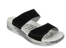 Alegria Women Suede Adjustable Slide Wedge Mixie Sandals $99 TINI {&}