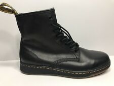 "Women's Dr. Martens ""Lite Newton 8-Eye Boots"" Black Temperley Leather Size 9"
