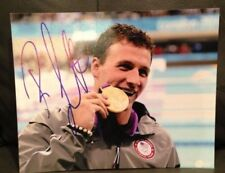 RYAN LOCHTE SIGNED AUTO 8x10 PHOTO SWIMMING OLYMPICS USA U.S.A. PROOF* **WOW** 2