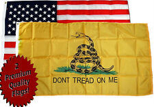 3x5 Gadsden Culpeper Flag and 3x5 USA American Flag Wholesale lot nylon poly