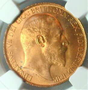 1902 Great Britain Half Penny NGC MS 66 RD High Sea  Finest Known Top Pop (#215)