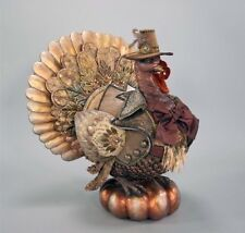 "Katherine's Collection Gilded Season Tabletop Turkey Autumn Thanksgiving 20"" NEW"