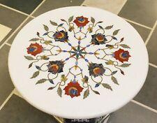 Dining Coffee Center Table Top Semi Precious Inlay Australian White Stone Rare