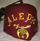 Vintage Aleppo Fez Shriner's W/ Tasell Size 7 1/4 W/ Pins And Carry Zip Case