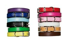 12 Puppy ID Collars - Fully Adjustable - Premium Leather - Small Dog Whelping
