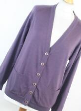 First Avenue Purple Merino Wool Womens Cardigan Size 16 (Regular)